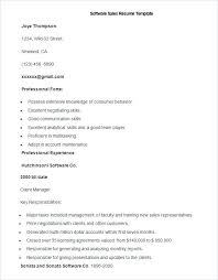 Sales Executive Resume Format Sample Software Template Pdf