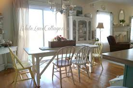 100 Dining Chairs Painted Wood White Farmhouse Table Lace Cottage