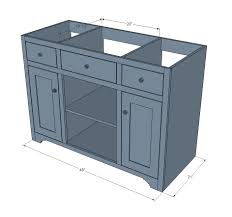 Bathroom Vanity Tower Dimensions by Ana White Simple Gray Bath Vanity Diy Projects