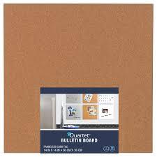 quartet cork bulletin board tile 14 x 14 frameless walmart