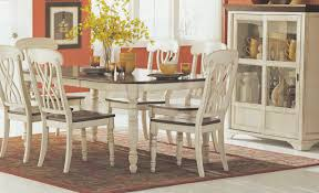 Antique White And Cherry Oval Dining Table And Six Chairs On ...