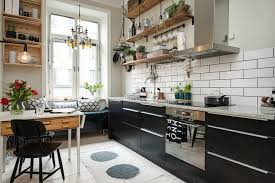 Rustic Wall Shelves And Crates Make Perfect Kitchen Upper Storage