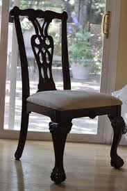 Dining Room Antique Wooden Chairs With Cushion
