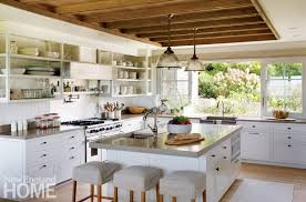 The Kitchen Was A Labor Of Love Says Interior Designer Liz Stiving Nichols Rooms Wood Ceiling Links Space To Adjacent Great Room