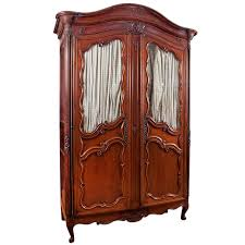 French Antique Louis XV Armoire In Walnut With Glass Panels ... French Antique Armoire 19th Century Wardrobe Burr Antiques Atlas Fniture Stunning Mirror Fronted Wardrobes Mirrored Napoleon Iii In Mahogany Circa 1870 1890 Hand Carved Oak Or Beveled 3 Door For Sale La Rochelle Roco Wardrobe Cart Awesome Victorian Cabinet Bedroom Home Ideas Walnut Ldon