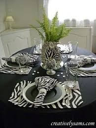 Zebra Tablescape With Candles