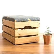 Wooden Milk Crates Wood Crate Ottoman Up Cycled Apple Storage Box