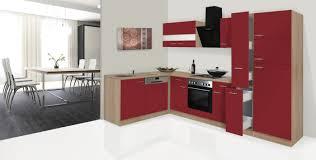 respekta küchenzeile küche winkelküche l form küche eiche sonoma rot 310x172 cm