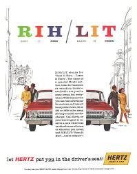 100 Hertz Moving Trucks 1961 Rent A Car Art Rent It Leave It Automobile Vintage Print