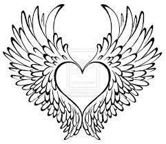Heart With Wings Coloring Pages Page Free Download