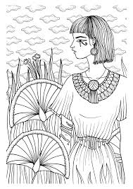 Egypte Et Pharaons 100 Coloriages Anti Stress By French Auther Mademoiselle Eve Focuses On
