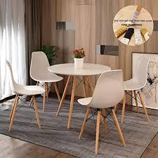 set mit 4 runden esstisch und stühlen eiffelturm stil