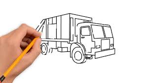 3D Drawing Of A Truck Garbage Truck Transport Pencil To Draw Step By ...