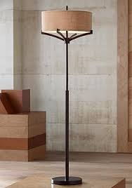 Franklin Iron WorksTM Tremont Floor Lamp With Burlap Shade