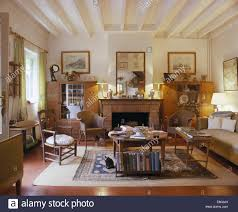 French Country Living Rooms Images by Lloyd Loom Chairs And Comfortable Sofa In French Country Living