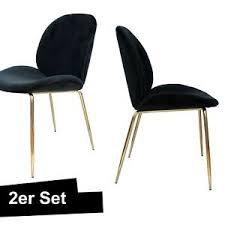 samt stuhl schwarz gold 2er set esszimmerstuhl ebay