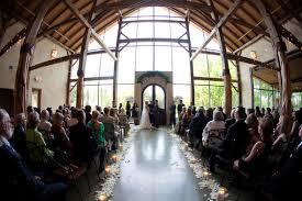 Rustic Glam Indoor Wedding Ceremony