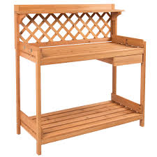 Osh Potted Christmas Trees by Potting Bench Outdoor Garden Work Bench Station Planting Solid