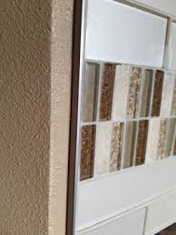 metal tile trim backsplash