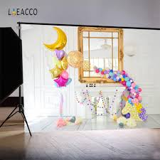 Laeacco Balloons Unicorn Fireplace Birthday Baby Photography Backgrounds Customized Photographic Backdrops For Photo Studio In Background From Consumer