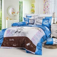 blue gray mickey mouse queen size bedding sets boys and girls