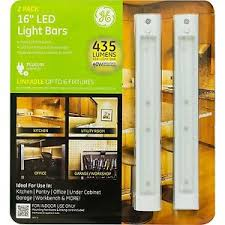 ge 2 pack 16 led linkable cabinet light bars 435 lumen