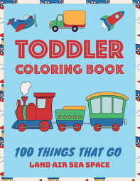 100 Commercial Truck Blue Book Toddler Coloring 100 Things That Go Coloring For Kids
