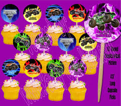 Monster Jam Trucks Cupcake Picks Cake Toppers -12 Pcs | Truck ... Edible Cake Images M To S The Monkey Tree Monster Jam Icing Image This Party Started Modern Truck Birthday Invites Embellishment Invitations Personalised Topper Cakes Decoration Ideas Little Trucks Boys 1st Elegant 3d Birthdayexpress A4 Dzee Designs Cupcakes Kids Parties Nuestra Vida Dulce Therons 2nd With At In A Box Simple Practical Beautiful