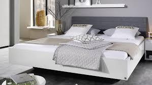 bett halle weiß hochglanz polster stoff grau 180x200 cm