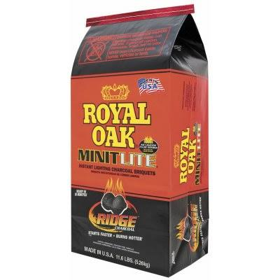 Royal Oak Charcoal Briquets, Instant Lightning, Minit Lite, Ridge - 11.6 lb
