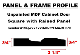 Rtf Cabinet Doors Online by Unfinished Mdf Cabinet Door Square With Raised Panel By Kendor