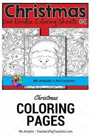 10 Detailed Zen Doodle Christmas Coloring Pages Will Keep Your Students Busy During The