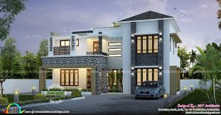 100 Modern Contemporary Home Design Sq Ft Modern Contemporary Home Kerala Home Design Floor Plans Sq Ft