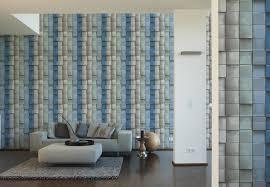 a s création mustertapete tapete move your wall blau grau grün