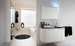 vintage black and white bathroom white bathtub white tile wall