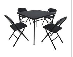 Product Recall: 5 Piece Mainstays Card Table Sold At Walmart ... Fniture Lifetime Contemporary Costco Folding Chair For Ideas Walmart Lawn Chairs Relax Outside With A Drink In Mesmerizing Tables Cheap Patio Set Find French Bistro And Lily Bamboo Riviera Folding Chairs Outdoor Rohelpco Mainstays Steel Black Tips Perfect Target Any Space Within The Product Recall 5 Piece Card Table Sold At Gorgeous At Amusing Multicolors