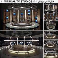 Virtual Studio 3d Model Virtual Sets Virtual Studio