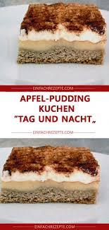 apfel pudding kuchen tag und nacht