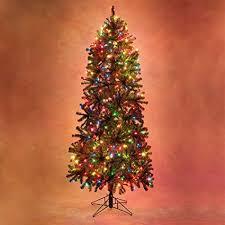 Slender Douglas Fir Prelit Christmas Tree Artificial 1350 Clear Lights 12