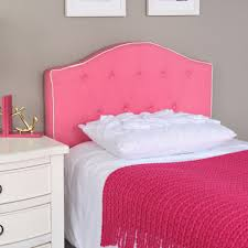 Diva Upholstered Twin Bed Pink by Pink Fabric Twin Size Headboard Homepop