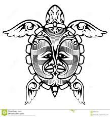 Ornement Décoratif De Style Tribal Ethnique Tortue Illustration