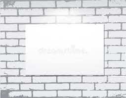 Download Empty Frame On A Brick Wall Art Gallery Stock Vector