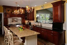 kitchen attractive rustic kitchen chandelier lights granite
