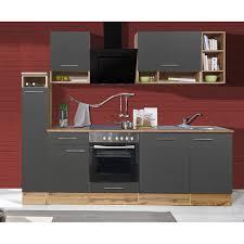 respekta küchenzeile 250 cm grau wildeiche nachbildung