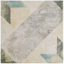 Home Depot Floor Tiles Porcelain by Merola Tile Pompei Star Blue 9 3 4 In X 9 3 4 In Porcelain Floor