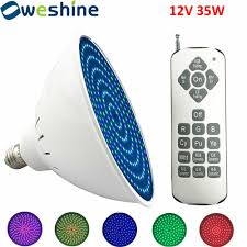 led pool light 12v 35w remote color changing weshine