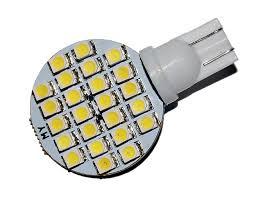 led side mounted disc led light 12 vdc 12vac t10 wedge