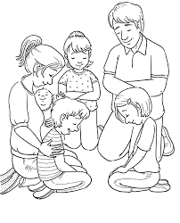 Person Praying Coloring Page Christian Bible Pages