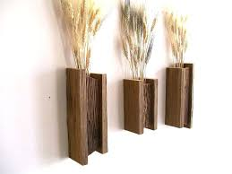 Sconce Set Of 3 Rustic Reclaimed Barn Wood Wall Vase Flower Sconces Replacement Glass