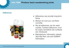 unit 1004 produce basic woodworking joints pearson education
